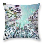 Abstract Digital Oil Painting Full Of Texture And Bright Color Throw Pillow