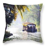 Backwaters Kerala - India Throw Pillow