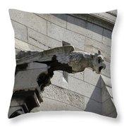 Basilica Du Sacre-coeur De Montmartre Throw Pillow