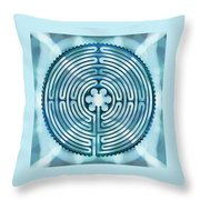 11 Chartres - Beyond Sky Throw Pillow