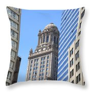 Chicago Skyscrapers Throw Pillow