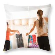 Dance Class For Women Throw Pillow