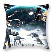 Empire Star Wars Poster Throw Pillow