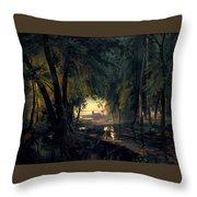 Forest Path Near Spandau Throw Pillow