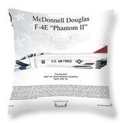 Mcdonnell Douglas F-4e Phantom II Thunderbird Throw Pillow