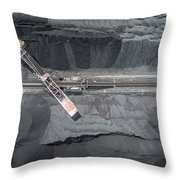 Mining Excavator On The Bottom Surface Mine.  Throw Pillow