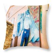 Mural Painting In Saludecio Throw Pillow