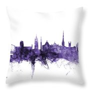 Newcastle England Skyline Throw Pillow