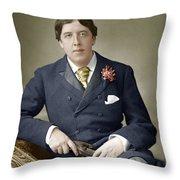 Oscar Wilde (1854-1900) Throw Pillow