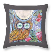 Owl Midnight Throw Pillow