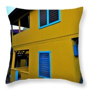 Roatan/house Throw Pillow
