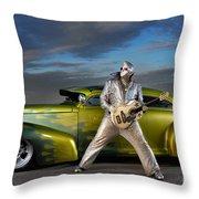 Silver Elvis Throw Pillow