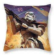Star Wars Saga Poster Throw Pillow