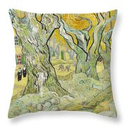 The Road Menders Throw Pillow