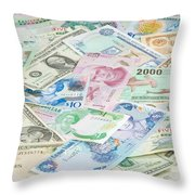 Travel Money - World Economy Throw Pillow