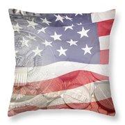 Usa Finance Throw Pillow