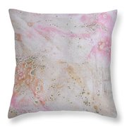 11. V2 Pink And Cream Texture Glaze Painting Throw Pillow