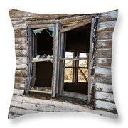 Vintage Grain Elevator Throw Pillow