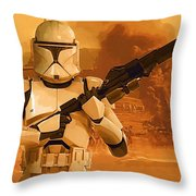 Vintage Star Wars Poster Throw Pillow