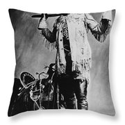 William F. Cody (1846-1917) Throw Pillow by Granger