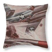 World War II Advertisement Throw Pillow