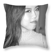 Asian Female Beauty. Throw Pillow