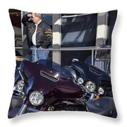 Screw It, Just Ride Throw Pillow