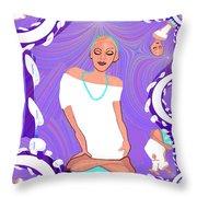 1103  Yoga Lady Fractal 2017 Throw Pillow
