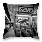 110th Street And Lenox Avenue Station - New York City Throw Pillow