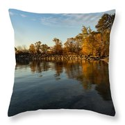 Autumn Beach - The Splendor Of Fall On The Shores Of Lake Ontario Throw Pillow