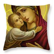 Mary And Child Throw Pillow