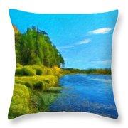 Nature Art Landscape Canvas Art Paintings Oil Throw Pillow