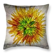 11262 Flower Abstract Series 02 #16a Throw Pillow