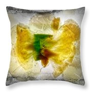 11264 Flower Abstract Series 02 #17 - Carnation Throw Pillow