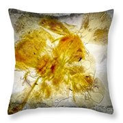 11265 Flower Abstract Series 02 #18 - Carnation 2 Throw Pillow