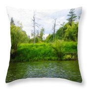 Nature New Landscape Throw Pillow