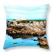 West Coast Seascape 2 Throw Pillow