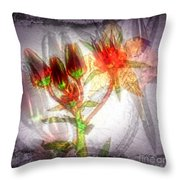 11305 Flower Abstract Series 03 #5 Throw Pillow