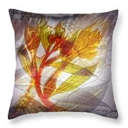 11315 Flower Abstract Series 03 #13 Throw Pillow