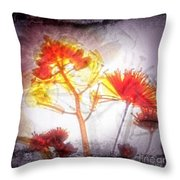 11318 Flower Abstract Series 03 #16 Throw Pillow
