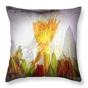 11322 Flower Abstract Series 03 #20 Throw Pillow