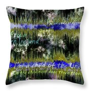 11362 Child Of The Universe With Lyrics By Barclay James Harvest Throw Pillow