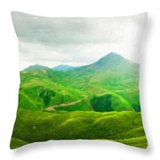 Nature Landscape Art Throw Pillow