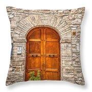 1164 Assisi Italy Throw Pillow
