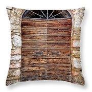 1165 Assisi Italy Throw Pillow