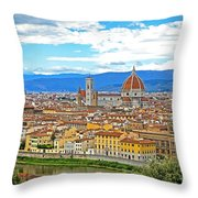 1166 Florence Italy Throw Pillow