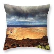 1174 Brewing Desert Storm Throw Pillow