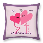 1198  Be My Valentine V Throw Pillow