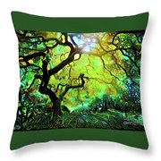 12 Abstract Japanese Maple Tree Throw Pillow