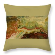Acrylic Pour Throw Pillow